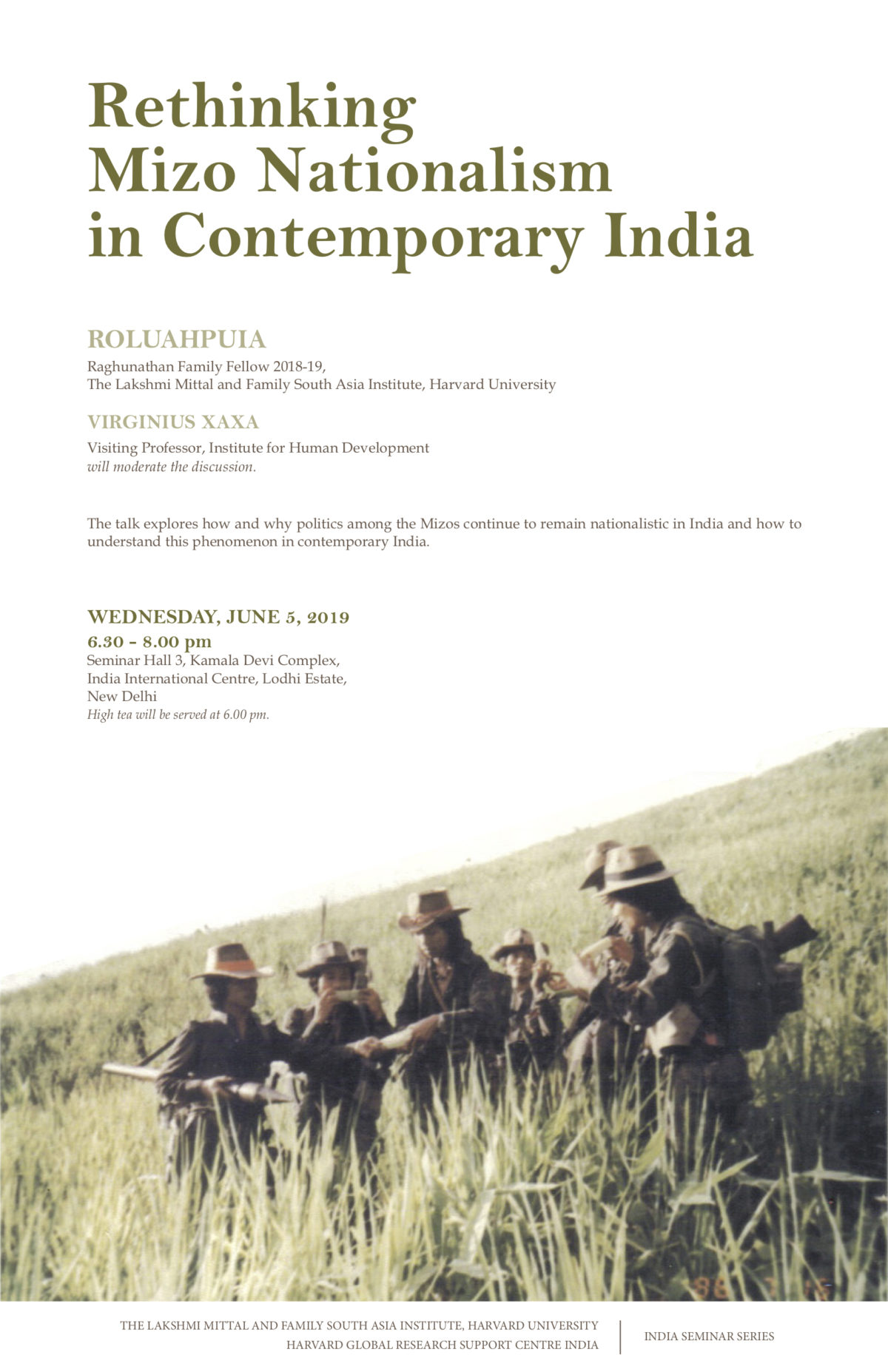 Poster image for Rethinking Mizo Nationalism in Contemporary India event.